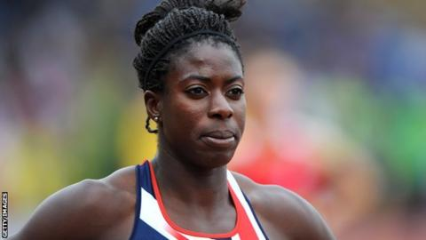 British 400m runner Christine Ohuruogu