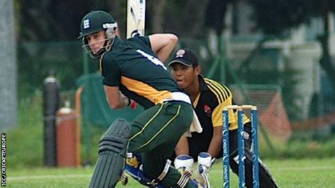 Guernsey batsman Ross Kneller