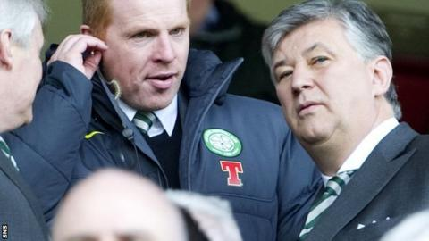 Neil Lennon and Peter Lawwell will celebrate Celtic's title on Sunday