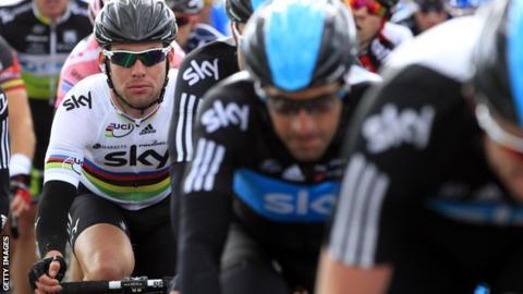 Mark Cavendish in the 2012 Giro d'Italia