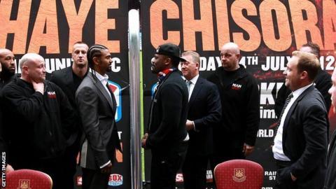 David Haye faces Dereck Chisora