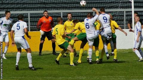 Dunston and West Auckland in action in the league