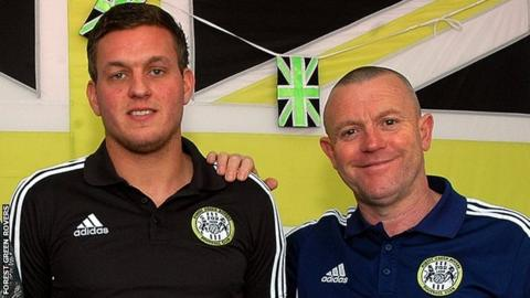 Striker Ben Wright and manager Dave Hockaday