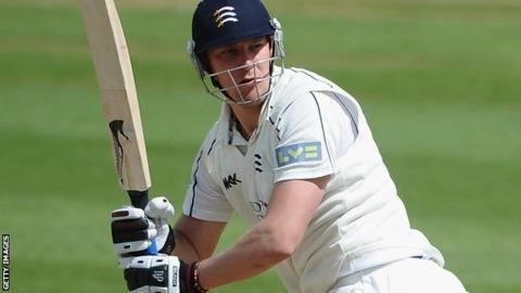Ollie Rayner batting for Middlesex