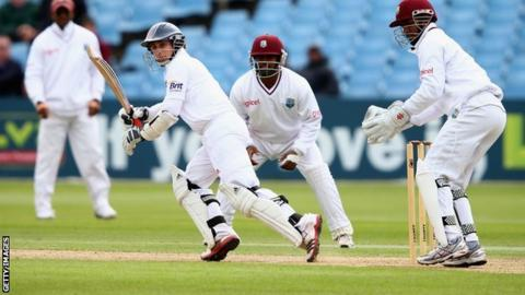 James Taylor on his way to a century against the West Indies
