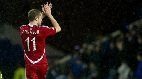 Aberdeen midfielder Kari Arnason