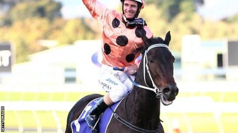 Jockey Luke Nolen on Black Caviar