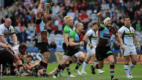 Harelquins beat Northampton Saints to book their first ever premiership final place