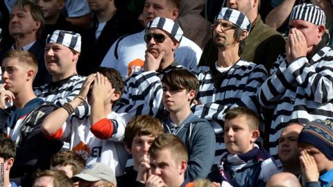 Bolton fans in fancy dress