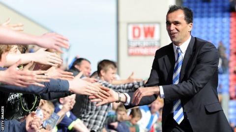 Wigan manager Roberto Martinez