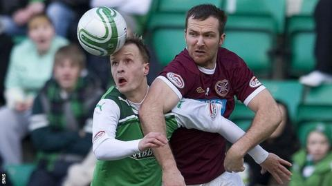 Hibs striker Leigh Griffiths and Hearts defender Andy Webster will face each other at Hampden on 19 May