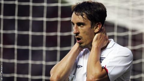 Gary Neville joins the England team