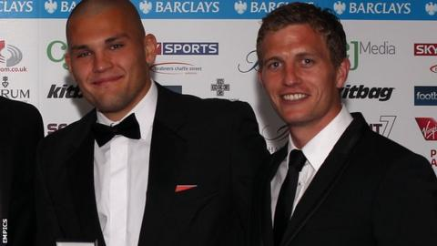 Bobby Olejnik (left) and Lee Mansell were both named in the League Two team of the season.