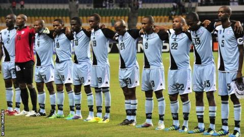 The Botswana team before their game with Mali at the 2012 Africa Cup of Nations