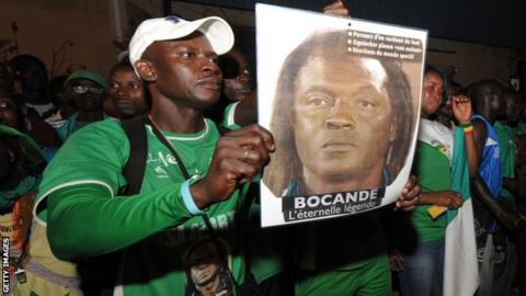Thousands of fans gathered to pay tribute to Jules Bocande