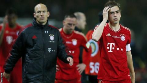 Bayern Munich players disappointed after German Cup final hammering by Borussia Dortmund