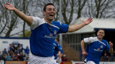 Mckeown opened the scoring for Stranraer in the first leg at Stair Park