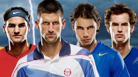Roger Federer, Novak Djokovic, Rafael Nadal and Andy Murray