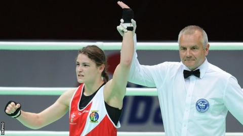 Katie Taylor is announced as world champion in China