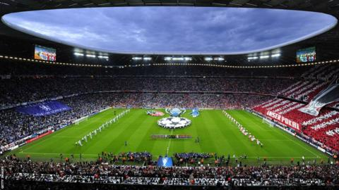 Inside the Allianz Arena