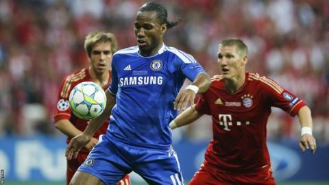 Didier Drogba has the ball