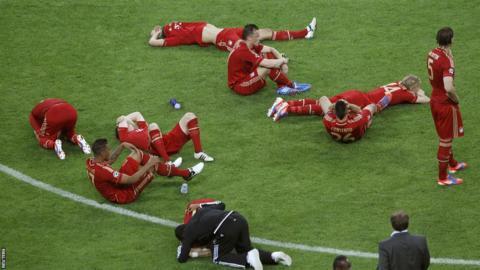 Bayern Munich's losing players