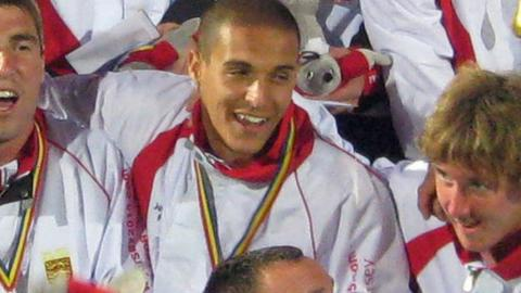 Michael Weir won a gold medal with jersey at the 2009 Island Games