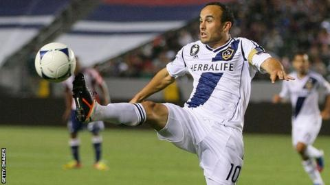 Donovan in action for LA Galaxy this year