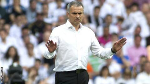 Jose Mourinho of Real Madrid