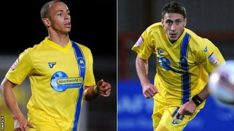 Lloyd Macklin (left) and Chris McPhee have scored just three goals between them this season