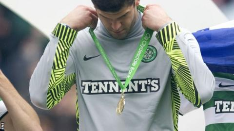 Forster with his Scottish Premier League winners' medal