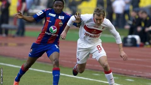 McGeady (right) in action for Spartak against Kuban Krasnodar