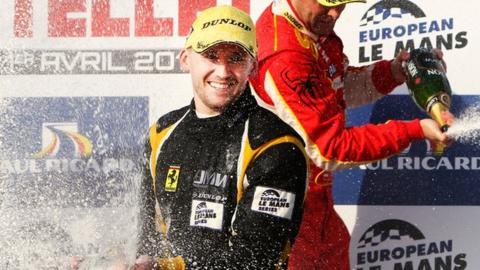 James Walker celebrates