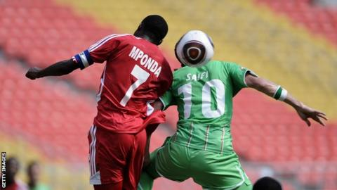 Peter Mponda in action for Malawi in 2010