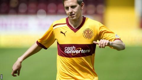 Saunders has made one appearance for Motherwell in April since his injury