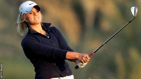 Scottish golfer Carly Booth