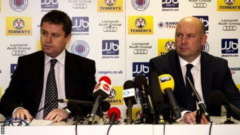Rangers' administrators David Whitehouse and Paul Clarke