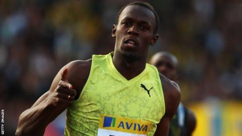 Usain Bolt at Crystal Palace