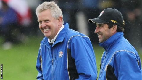 Colin Montgomerie (left) and Jose Maria Olazabal