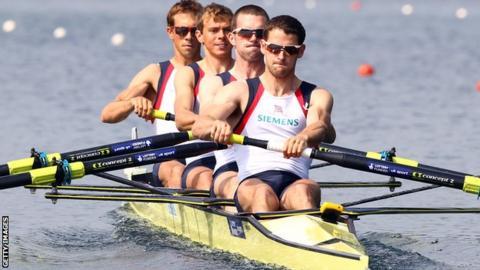 Richard Chambers and his British team-mates Paul Mattick, Rob Williams and Chris Bartley
