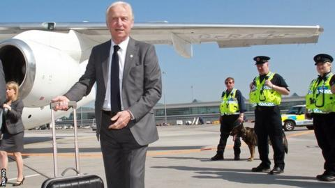 Giovanni Trapattoni departed with his squad to the pre-Euro 2012 training camp on Sunday