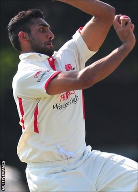 Lancashire bowler Ajmal Shahzad