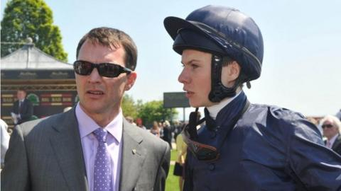 Aidan O'Brien (left) with his son, Joseph