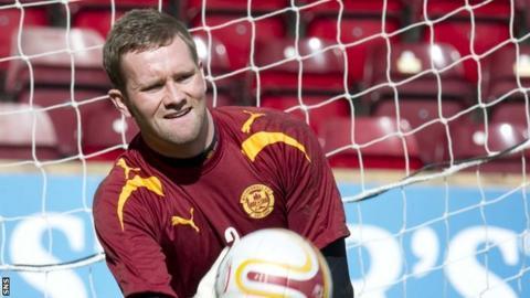 Motherwell goalkeeper Lee Hollis