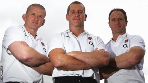 Graham Rowntree, Stuart Lancaster and Mike Catt