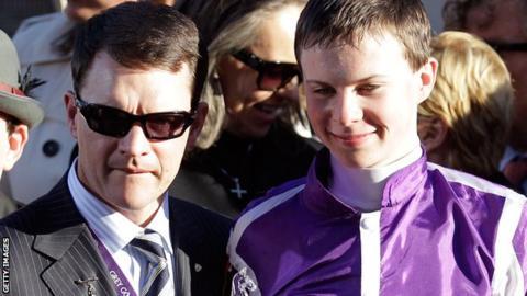 Aidan O'Brien and son Joseph O'Brien