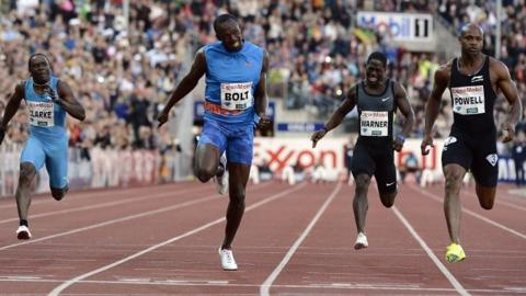 Usain Bolt wins the 100m in Oslo
