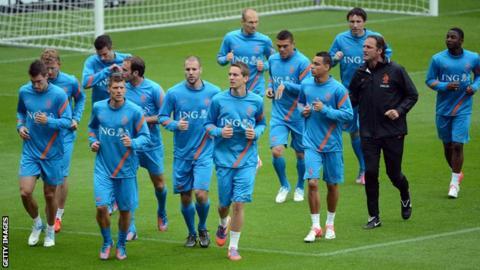 Netherlands team training in Krakow