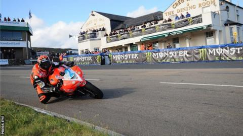 Ryan Farquhar in action at the Isle of Man TT