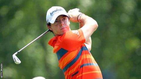 Rory McIlroy in second-round action